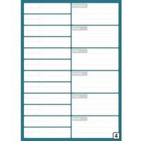 Tablice szkolne, Tablica magnetyczna planer spotkań suchościeralny z kalendarzem tygodniowym 265