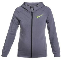 Nike Performance DRY HOODIE Bluza rozpinana cool grey heather/volt