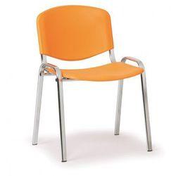 Plastikowe krzesło ISO, pomarańczowy - kolor konstrucji chrom