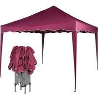 Namioty ogrodowe, EKSPRESOWY PAWILON NAMIOT OGRODOWY HANDLOWY 3X3M - Czerwony (odcień bordowy)