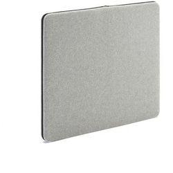 Ścienny panel dźwiękochłonny Zip, 800x650 mm, jasnoszary, czarny suwak