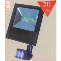 Czujki alarmowe, HALOGEN LAMPA NAŚWIETLACZ LED 20W Z CZUJNIK RUCHU 13163473