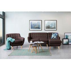 Fotel czekoladowy - tapicerowany - pikowany - MOTALA