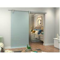 Pozostałe drzwi i akcesoria, Naścienne drzwi przesuwne CLEAVER — 205 × 93 cm (wys. × szer.) — szkło hartowane