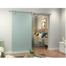 Naścienne drzwi przesuwne CLEAVER — 205 × 93 cm (wys. × szer.) — szkło hartowane