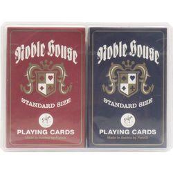 Karty NOBLE HOUSE PIATNIK 2 talie w plastikowym pudełku