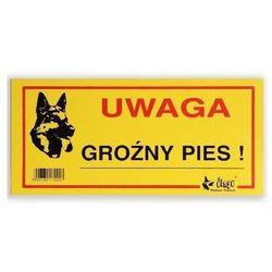 """DINGO tabliczka ostrzegawcza """"UWAGA GROŹNY PIES"""" - """"UWAGA GROŹNY PIES"""""""