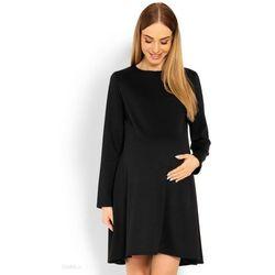 Czarna sukienka ciążowa Anna