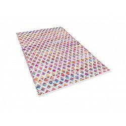 Dywan - wielokolorowy - 80x150 cm - bawełna - handmade - ARAKLI