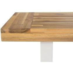 Ławka drewniana biała/brązowa SCANIA