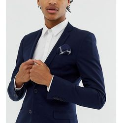 Noak pocket square in large navy check - Navy