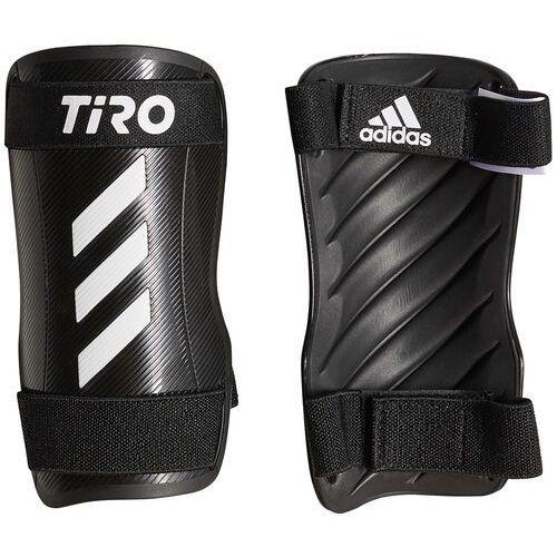 Piłka nożna, Ochraniacze piłkarskie adidas Tiro SG Training czarno-białe GK3536