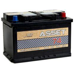 Akumulator ASSET 74Ah 680A EN PRAWY PLUS niski