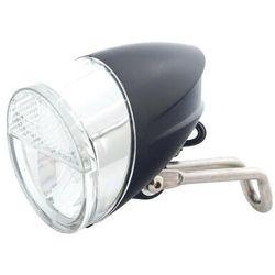 Lampa przednia /dynamo/ na widelec JY-7006, LED,z wyłącznikeim, z podtrzymaniem