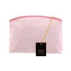Duża kosmetyczka pudrowa sakura suwak