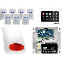 Zestawy alarmowe, Zestaw alarmowy Ropam OptimaGSM 7 x Czujka Bosch Manipulator dotykowy TPR-4WS GSM