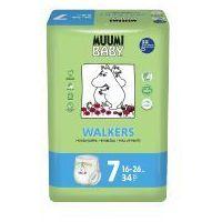 Pieluchy jednorazowe, Eko Pieluchomajtki Jednorazowe Walkers XL, (16-26 kg), 34 szt, MUUMI