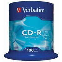 Płyty CD, DVD, Blu-ray, Płyta CD-R Verbatim 700MB Cake 100szt.