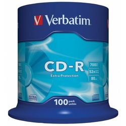 Płyta CD-R Verbatim 700MB Cake 100szt.