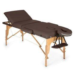 KLARFIT MT 500 stół do masażu 210 cm 200 kg składany pianka drobnokomórkowa torba brązowy