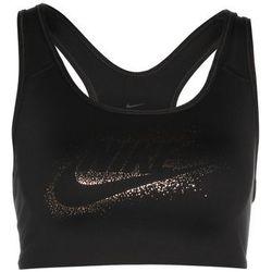 Nike Performance CLASSIC SWOOSH FUTURA SPARKLE Biustonosz sportowy black/black