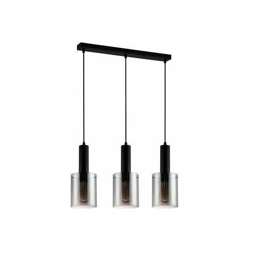 Lampy sufitowe, Italux Sardo PND-5581-3-BK+SG lampa wisząca zwis 3x40W E27 czarny/dymiony