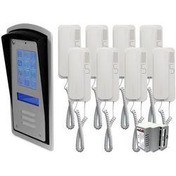 Zestaw 8-rodzinny panel domofonowy wielorodzinny z szyfratorem RADBIT BRC10 MOD