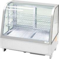 Szafy i witryny chłodnicze, Witrynka ekspozycyjna chłodnicza 100 l LED srebrna STALGAST 852105