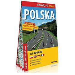 Polska kieszonkowa laminowana mapa samochodowa 1:1 400 000 - Praca zbiorowa