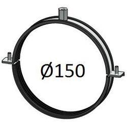 Obejma z uszczelką Średnice od DN 100-400 mm do rur Spiro Przewodów wentylacyjnych Średnica [mm]: 150
