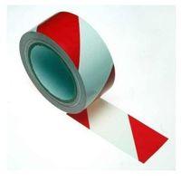Taśmy ostrzegawcze, Taśma ostrzegawcza samoprzylepna biało czerwona szerokość 50 mm
