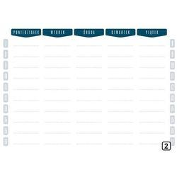 Planer suchościeralny tygodniowy z godzinami 264