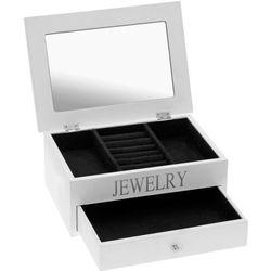 Drewniana szkatułka na biżuterię JEWELRY