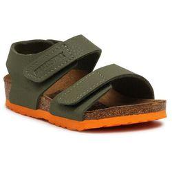 Sandały BIRKENSTOCK - Palu Kids Logo Bs 1019048 Desert Soil Moss Green/Orange