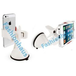 Uniwersalny uchwyt samochodowy do urządzeń 5 cali (telefon, GPS) Biały - Biały