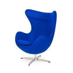 Fotel EGG CLASSIC atramentowy niebieski. 29 - wełna, podstawa chromowana