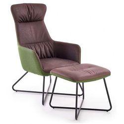 Loftowy fotel wypoczynkowy Evan - szary + zieleń