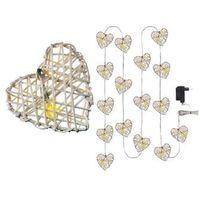 Ozdoby świąteczne, Oświetlenie świąteczne EMOS 16 LED CHRISTMAS HEART 3M IP20 WW ZY1404
