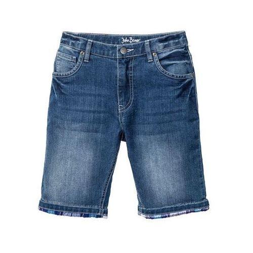 """Krótkie spodenki dziecięce, Bermudy chłopięce ze stretchem Slim Fit bonprix niebieski """"stone"""""""