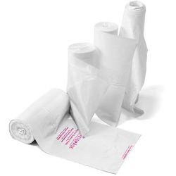 Worki sanitarne, 10 rolek (100 sztuk/rolka), 30 L, biały