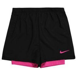 NIKE Spodnie sportowe pink / schwarz
