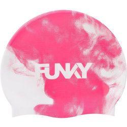 Funky Trunks Silicone Swimming Cap Men, różowy/biały 2020 Czepki pływackie Przy złożeniu zamówienia do godziny 16 ( od Pon. do Pt., wszystkie metody płatności z wyjątkiem przelewu bankowego), wysyłka odbędzie się tego samego dnia.