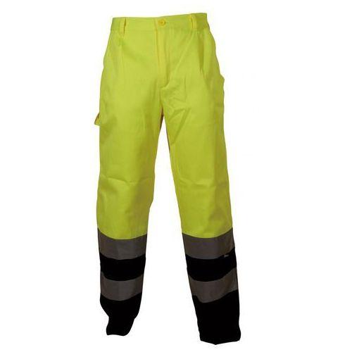 Spodnie i kombinezony ochronne, Spodnie robocze ostrzegawcze żółto-granatowe, rozmiar XL