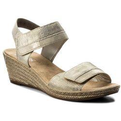 Sandały RIEKER - 62470-90 Gold