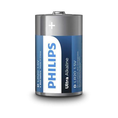 Baterie, Baterie alkaliczne Philips Ultra Alkaline LR20 D (blister) 2 sztuki