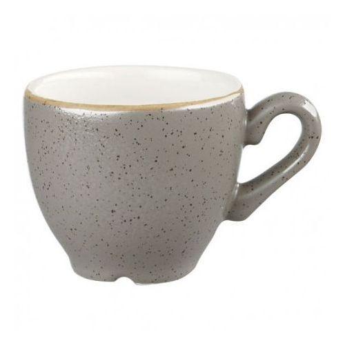 Filiżanki, Filiżanka espresso 0,1 l, szara | CHURCHILL, Stonecast Peppercorn Grey