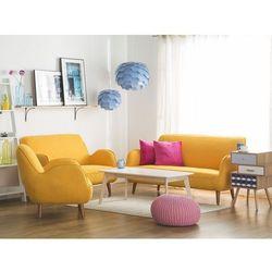 Fotel tapicerowany żółty KOUKI