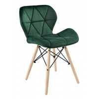 Krzesła, KRZESŁO AXEL VELVET aksamit butelkowa zieleń