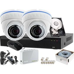 Zestaw do monitoringu: Rejestrator LV-XVR44N + 2x Kamera LV-IP10IR25DF + 1TB
