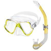 Maski, płetwy i fajki, Zestaw do nurkowania MARES Set Wahoo 11745 Żółty + DARMOWY TRANSPORT!
